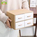 WCIC <b>Fashion</b> Paper Storage Drawer Stationery Storage Case Desktop Remote Control Holder Makeup Organizer Storage Box for <b>Jewelry</b>