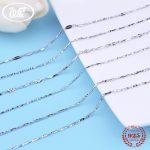 WK 5 10 20 PCS Lots Wholesale Jewellery Mix Lots 925 Sterling <b>Silver</b> Chain <b>Necklace</b> Women Jewelry Lot 5PCS 10PCS 20PCS W3 NA034