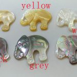 5pcs Pearl shell Pendant – elephant white animal <b>jewelry</b> beads – mother of pearl beads <b>supplies</b> – mop beads – grey black yellow