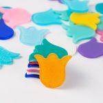 <b>Native</b> <b>American</b> <b>Jewelry</b> Acrylic Earrings Slab for DIY Ethnic <b>Jewelry</b> Accessories Tulip Flower Shape Mix Color 25.4*28mm 50pcs