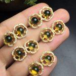 On Sale Fine Jewelry real high quality 925 sterling <b>Silver</b> 100% Natural blue amber Gemstone <b>Earrings</b> For Women Fine <b>earrings</b>