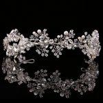 High Quality Exquisite Hair <b>Jewelry</b> Pearl Crystal <b>Wedding</b> Headband Tiara <b>Jewelry</b> Gold/Silver HeadPiece Bride Hair Accessories
