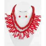 """New Free Shipping Chunky Beach Sea Lift Red Coral Reef 4-35mm 18-21"""" Necklace 925 <b>Silver</b> Dangle <b>Earrings</b> Top Quality Wholesale"""