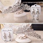 Wedding Hair <b>Jewelry</b> Crowns Tiaras and Earrings Crowns Wedding Sets Bride Hair Accessories