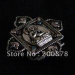 TGB016 Tibetan Silver <b>Antiqued</b> Buddha Lotus Prayer box,40mm,Tibet metal GAU amulet pendants,Nepal <b>jewelry</b>,GHAU