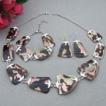 S061805 Natural 40mm Shell Necklace <b>Bracelet</b> and Earrings Sets