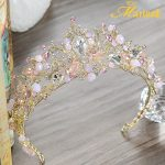 Super Sparkly Hairband Colorful Crystal Beads Handmade Tiaras and Crowns Women Hair Bijoux <b>Wedding</b> Party Pearl <b>Jewelry</b> HG138