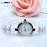 Beauties of Emperor EPOZZ nature gemstone series new quartz watch women 925 <b>Silver</b> white natural stone <b>bracelet</b> clock H1122S1