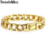 Trendsmax <b>Fashion</b> New Gold Stainless Steel Charm Bracelet Men Vintage Totem Men Bracelets 2018 Cool Male <b>Jewelry</b> Armband HB324