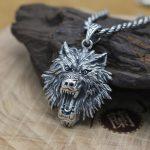 NEW 100% 925 <b>Silver</b> Wolf Head Pendant Vintage <b>Sterling</b> POWER WOLF Pendant Man <b>Jewelry</b> Necklace Pendant PUNK <b>Jewelry</b>