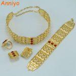 Anniyo Big Size Ethiopian Set <b>Jewelry</b> Gold Color African Wedding Gift Ethnic Tribal Habesha #002602