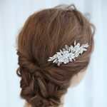 Silver Metal Flowers Elegant Bridal Hair Combs Wedding Hair Accessories Handmade Hair Pieces Hair <b>Jewelry</b> For Woman Gift
