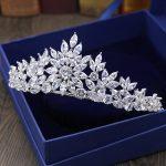 New Luxurious CZ Cubic Zirconia Class Royal <b>Wedding</b> Bridal Tiara Crown Diadem Women Hair <b>Jewelry</b> Accessories HG1139