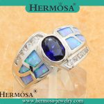 925 Sterling Silver <b>jewelry</b> Australian Opal Rings IN STOCK Size 7 free shipping