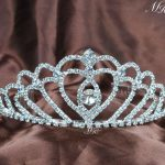 Sweet Heart Tiara Diadem w/ Hair Combs Wedding Bridal Crown for Brides Clear Crystal Rhinestones Prom Party Hair <b>Jewelry</b>