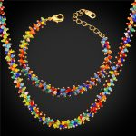 New African Beads <b>Jewelry</b> Set Bracelet & <b>Necklace</b> Colorful Synthetic Coral Bohemian <b>Jewelry</b> Set For Women Gift NH1638
