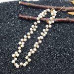 Lii Ji Natural AA+ 4-5mm Nearround Freshwater Pearl 925 Sterling <b>Silver</b> Choker <b>Necklace</b>