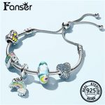 FANSER 2018 Last New Rainbow Series Pandor <b>Bracelet</b> Geniune 925 Sterling <b>silver</b> Diy Bead Women Snake Charm as picture
