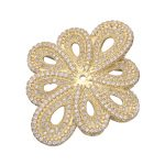 Supplies For <b>Jewelry</b> <b>Making</b> Embellishment Findings Micro Pave Zircon Rhinestone Flower Connectors For Pearl Necklaces Pendants