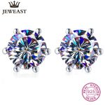 925 <b>Sterling</b> Sliver Stud Earring Shining Earrings Fine <b>Jewelry</b> Woman Anti Allergy 2017 New Fashion Women Trendy Party