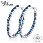 JewelryPalace Huge 13.5ct Genuine Londun Blue Topaz Hoop <b>Earrings</b> 925 Sterling <b>Silver</b> New Fine Jewelry For Women Wife Girl