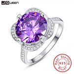 brand <b>jewelry</b> 7.5ct Natural Gem Stone Purple Amethyst Engagement Ring 925 Sterling <b>Silver</b> Round Cut Fashion Fine Accessory