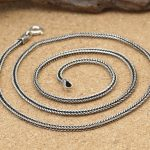 S925 Thailand 2mm import wholesale <b>silver</b> jewelry pendant rope chain collocation of male and female <b>Silver</b> <b>Necklace</b>