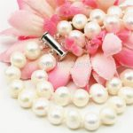 Accessories White Natural Freshwater Pearl Lucky Beads 2ROWS Necklace Chain <b>Jewelry</b> <b>Making</b> Design Women Girls Gifts 7-8mm