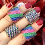 GODKI Monaco Designer Luxury Flower Geometry Cubic Zironium Engagement Dubai Naija Bridal Finger Rings <b>Jewelry</b> Addiction