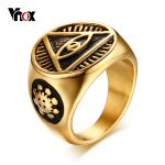 Vnox <b>Antique</b> Men Ring Triangle Eye of Providence Illuminati Pyramid All Seeing Eye Stainelss Steel Male Punk <b>Jewelry</b>