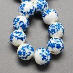 200pcs 6mm 8mm 12mm <b>Handmade</b> Printed Porcelain Round Bead for <b>Jewelry</b> Making