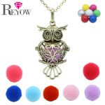 Pregnant Womens Aromatherapy <b>Jewelry</b> <b>Antique</b> Bronze Heart Owl Locket Chime Ball Pendant Essential Oil Diffuser Necklace