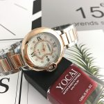 Fashion Casual <b>Silver</b> Gold <b>Bracelet</b> Watch Women Rhinestone Watches Women's elegant Quartz Wrist Watch relojes mujer