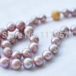 new fashion Charming 8MM Genuine Lavender shell pearl necklace Magnet Clasp Fashion <b>Jewelry</b> <b>Making</b> Gifts For Girl Women W0147