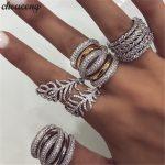 choucong Handmade Big Finger ring White Gold Filled Full 250pcs AAAAA Zircon Engagement <b>Wedding</b> Band Rings For Women men <b>Jewelry</b>