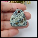 Wholesale 1Pcs Precious Natural Stone Turquoise Front Drilled <b>Necklace</b> Pendant 27x27x7mm 6.7g