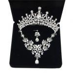 Bridal Tiara Crown <b>Jewelry</b> Sets Bride Wedding Necklaces Earrings set Fashion Hair <b>Accessories</b> Crowns Necklaces/Earrings set