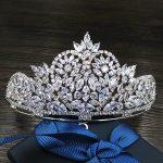Paved CZ Crown Cubic Zircon Tiara Princess Tiaras <b>Wedding</b> Hair Accessories Bride Hair <b>Jewelry</b> Bijoux Cheveux Coroa WIGO1099