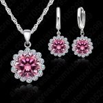 JEXXI JEXXI Wholesale Price Wedding <b>Jewelry</b> Set 925 Pure Silver Cubic Zircon Necklace Pendant/Earrings <b>Fashionable</b> Women Set