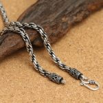 Interlock Chunky Chain Necklace Men 100% Solid 925 <b>Sterling</b> <b>Silver</b> 4mm Thick Chain Necklace Cool Mens <b>Silver</b> 925 <b>Jewelry</b> 33g