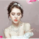 2017 Fashion Design Flower Crystal Simulated Pearl Bride Necklace <b>Earrings</b> Tiaras Crown Bridal Wedding Jewelry Set Accessories
