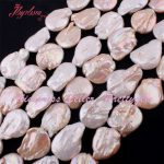 18-20mm Coin Baroque Freshwater Pearl Natural Stone Beads For DIY Necklace Bracelet Earring <b>Jewelry</b> <b>Making</b> 14.5″ Free Shipping