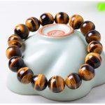 14mm Yellow Tiger Eye Natural Stone <b>Bracelet</b> For Women And Men Jewelry Crystal <b>Silver</b> Charm <b>Bracelets</b> Bangles Elastic Rope Chain