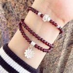 GZ 925 <b>Sterling</b> <b>Silver</b> Bracelet 4.5mm Garnet Petal S925 <b>Sterling</b> <b>Silver</b> Chain Bracelets for Women <b>Jewelry</b>
