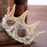 Baroque Retro Round Queen King Crown Bridal tiara crown for Women <b>Jewelry</b> <b>Wedding</b> Headdress Crown Tiaras Hair accessories