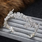 handcrafted <b>jewelry</b> new bridal hairbands women ornaments bridal tiara rhinestone silver hair accessories <b>Wedding</b> Accessories