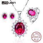 Red Ruby Sun Flower 925 Sterling <b>Earrings</b> <b>Silver</b> Necklace Women Bijoux 2016 New Trendy Jewelry Ring Bridal Fine Jewelry Sets