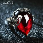 JIASHUNTAI Retro 100% 925 Sterling Silver Rings For Women Vintage Natural Stone Rings <b>Jewelry</b> Female