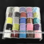 Wholesale 25rolls/bag 3×1.5mm Mixed Color Faux Suede Cord Leather Lace For Clothes Shoes <b>Jewelry</b> <b>Making</b> Findings about 5m/roll