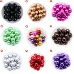 Cordial Design Charms <b>Jewelry</b> Colorful 6-20MM Acrylic Round Imitation Pearl Beads For Chunky Beads Necklace & Bracelet <b>Making</b>